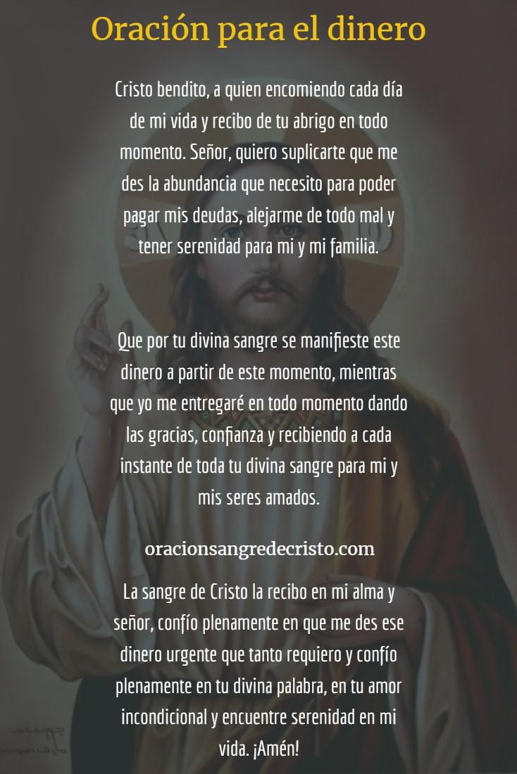 oración para el dinero