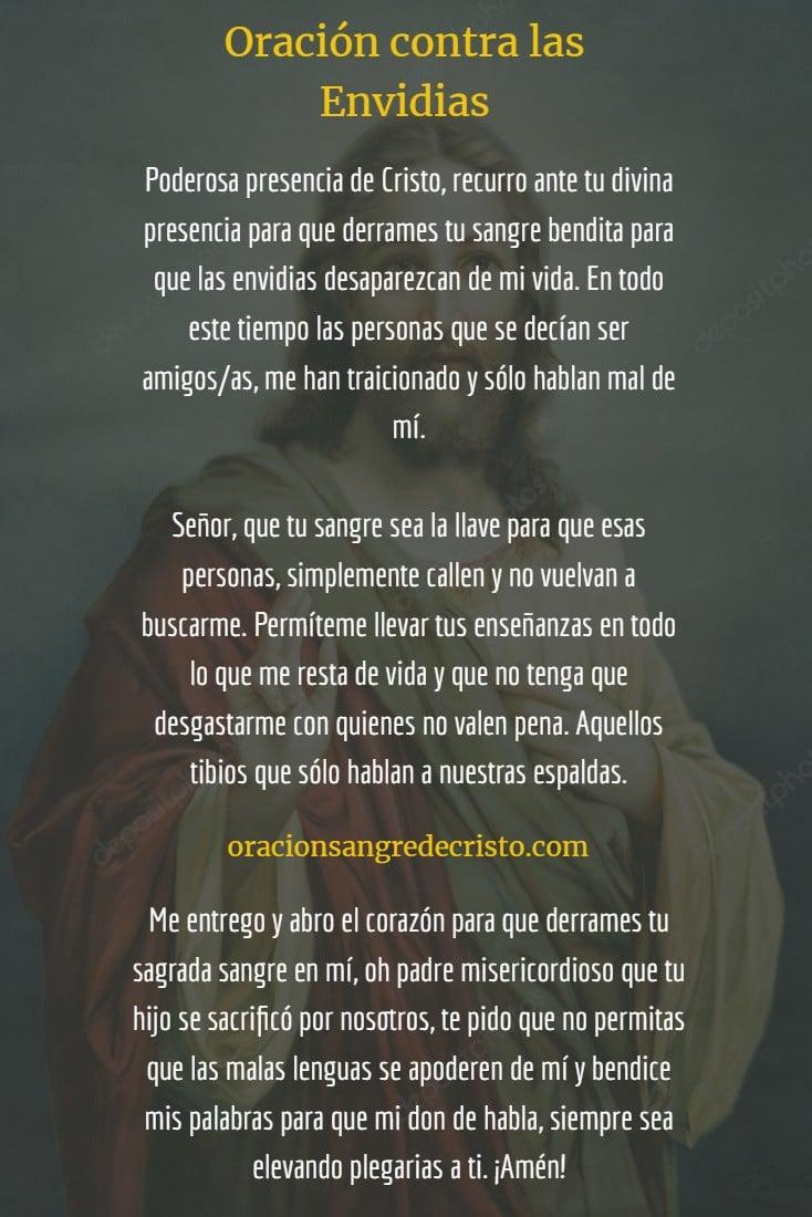 oracion contra las envidias